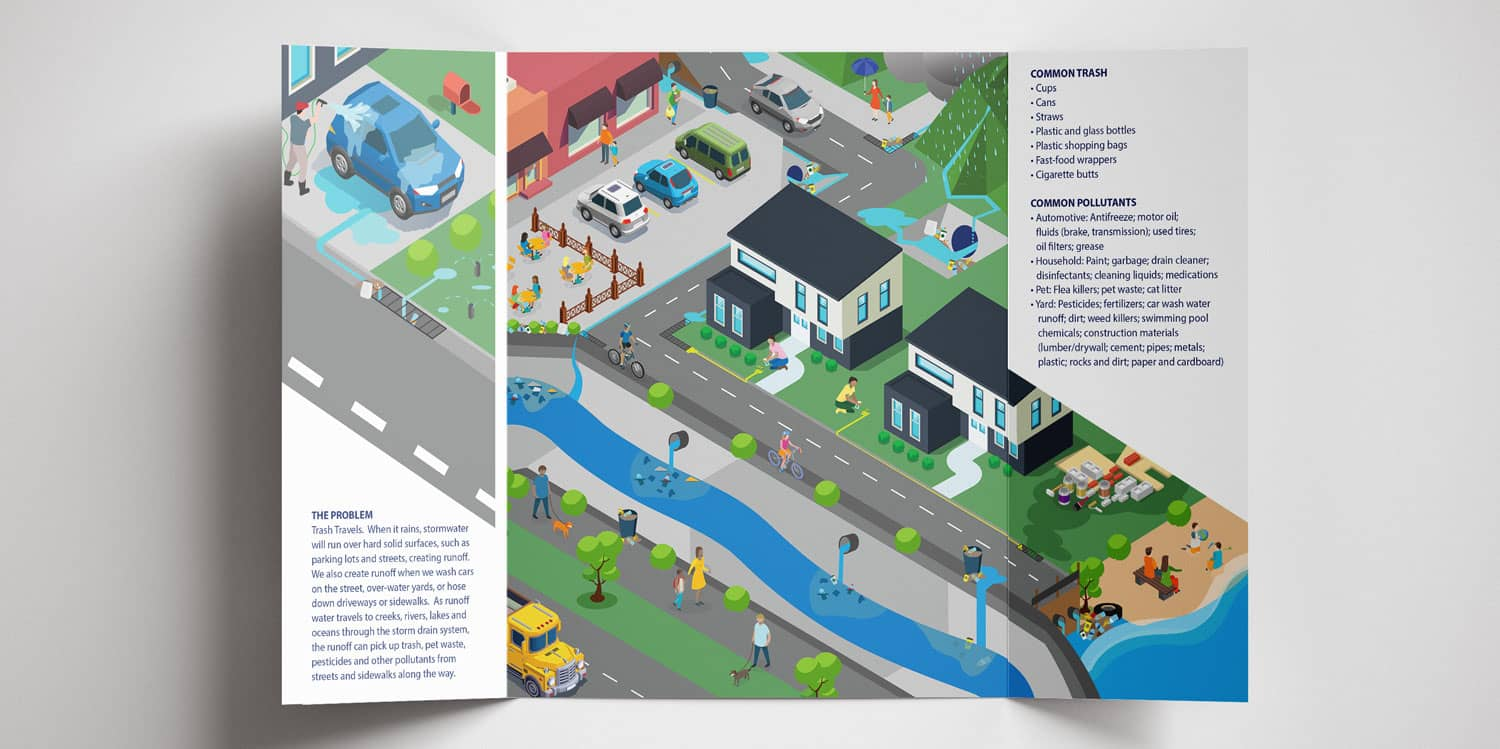 Trifold Brochure Illustration
